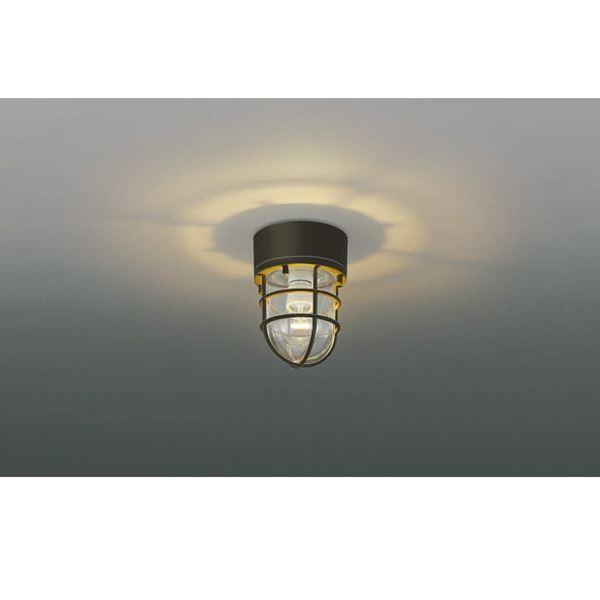 コイズミ ポーチ灯 直付・壁付・門柱取付 AU38416L 『ブラケットライト エクステリア照明 ライト』 茶色