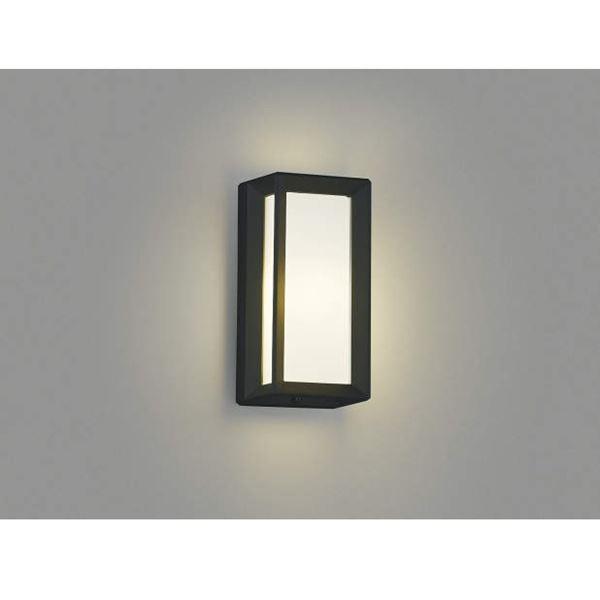 コイズミ 激安 激安特価 送料無料 シンプルデザインのセンサ付のポーチ灯 ポーチ灯 直付 壁付 門柱取付 黒色 エクステリア照明 セール開催中最短即日発送 ライト AU40413L ブラケットライト