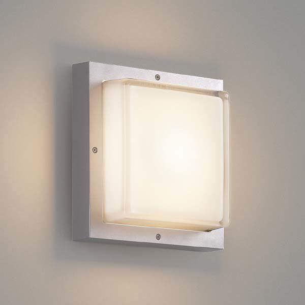 コイズミ 防塵・防水ブラケット AU45915L 『ブラケットライト エクステリア照明 ライト』 シルバーメタリック