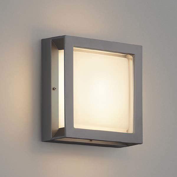 コイズミ 防塵・防水ブラケット AU45916L 『ブラケットライト エクステリア照明 ライト』 ダークグレーメタリック