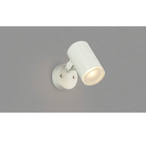コイズミ 節電とセキュリティに配慮したフラッシュセンサ機能付きのLEDスポットライト フットライト 格安店 AU38272L スポットライト オフホワイト 往復送料無料 ライト エクステリア照明