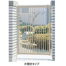 三協アルミ 形材門扉末広2型 0710 片開き門柱タイプ 『キロ特別企画!鍵付き錠に無料で変更可能です』