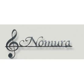 オンリーワン クラシカルアイアンネーム 音符 NL1-N08 『表札 サイン 戸建』