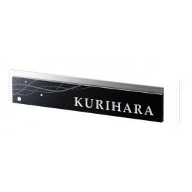 福彫 スタイリッシュ 黒ミカゲ&ステンレス DK111 『表札 サイン 戸建』