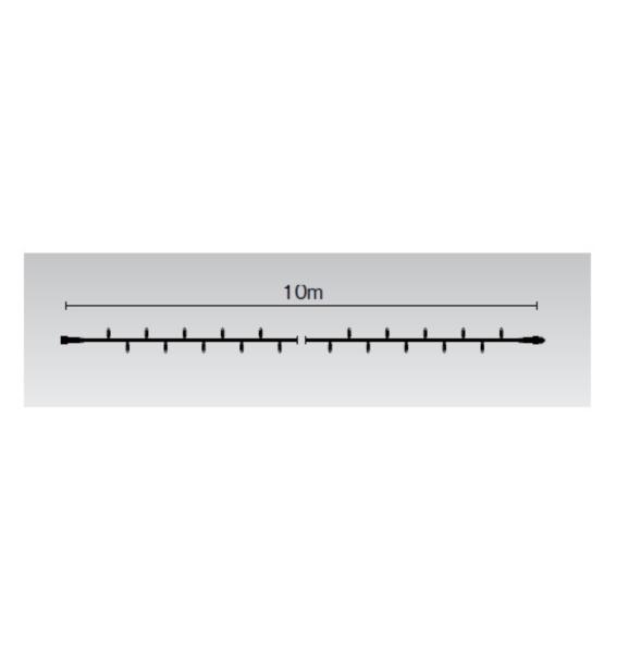 タカショー MKイルミネーション ストリングスライト100-10m MKJ-101B 『エクステリア照明 ライト』 本体色:ブラック/LED色:青