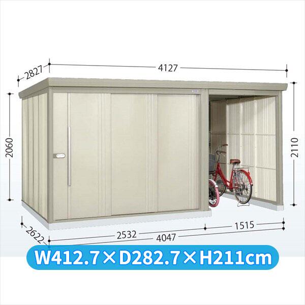 タクボ物置 TP/ストックマンプラスアルファ TP-Z4026 一般型 結露減少屋根  『駐輪スペース付 屋外用 物置 自転車収納 におすすめ』 ムーンホワイト