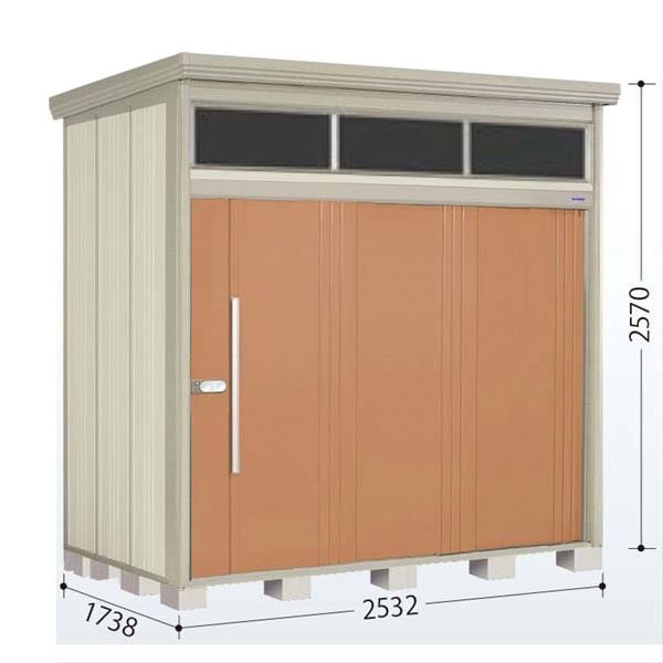 タクボ物置 JNA/トールマン ブライト JNA-2517T 一般型 標準屋根 『追加金額で工事も可能』 『屋外用中型・大型物置』 トロピカルオレンジ