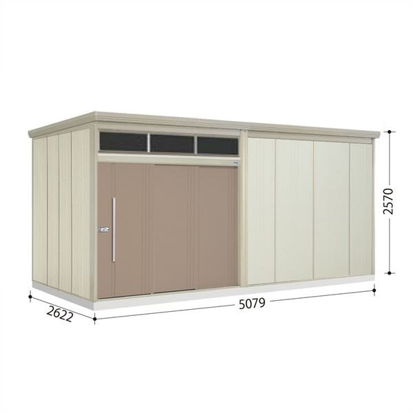 タクボ物置 JNA/トールマン ブライト JNA-S5026B 多雪型 標準屋根  『屋外用大型物置』 カーボンブラウン
