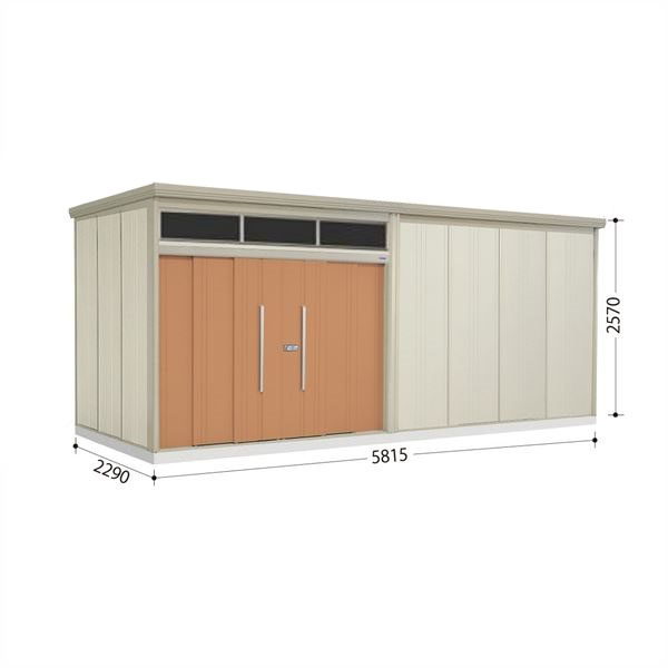 タクボ物置 JNA/トールマン ブライト JNA-Z5822T 一般型 結露減少屋根  『屋外用大型物置』 トロピカルオレンジ