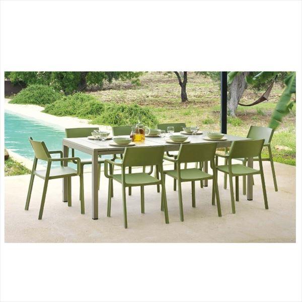 タカショー ナルディ リオ テーブル NAR-T13DG #33605000 『ガーデンテーブル』 ダークグレー