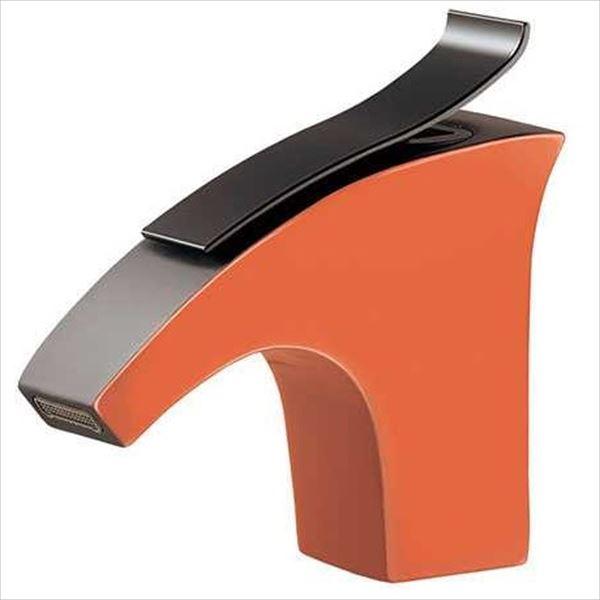 カクダイ 水栓金具 ELLIS 立水栓(オレンジ) 716-244-13