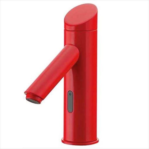 カクダイ 水栓金具 能 のう センサー水栓(レッド) 713-335