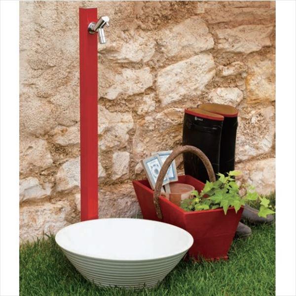 オンリーワン アクアルージュ 水栓柱 TK3-SKR +水鉢セット   ブライトレッド