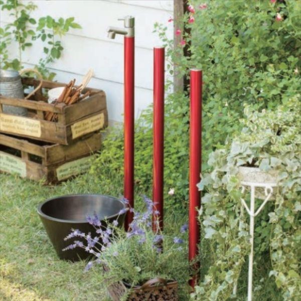 オンリーワン ジラーレ 水栓柱 TK3-SAW +ジラーレカラーピラー+水鉢セット   ワインレッド