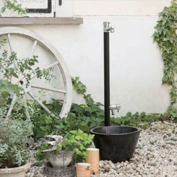 オンリーワン ジラーレW 水栓柱 TK3-SAWB +水鉢セット   マットブラック