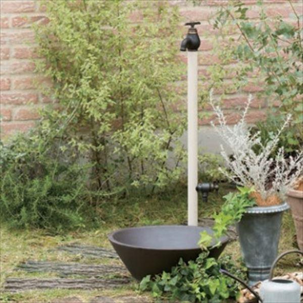 オンリーワン エポカW 水栓柱 TK3-SEWV (専用蛇口・補助蛇口付属)+水鉢セット   バニラ