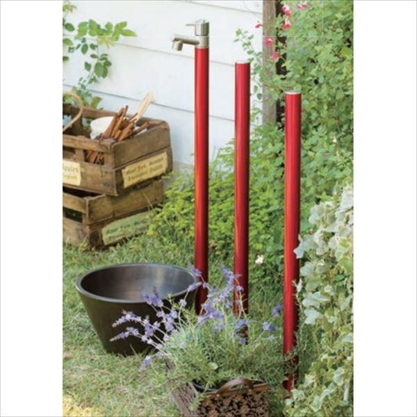 オンリーワン ジラーレ 水栓柱 TK3-E-DBB (専用蛇口付属)+水鉢+カラーピラーセット   ワインレッド