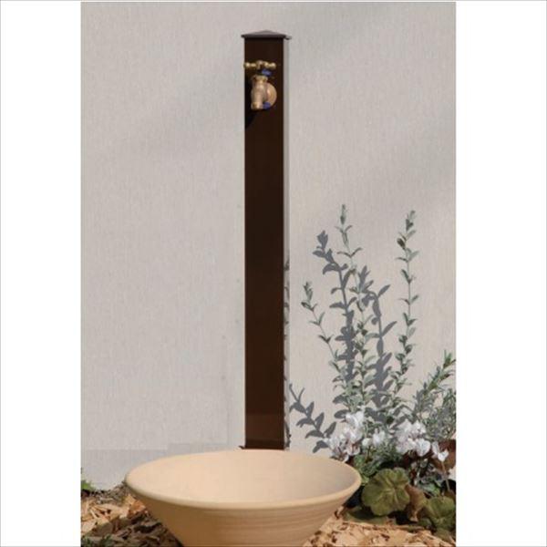 オンリーワン カラーアルミ立水栓ロング 水栓柱 GM3-AL-150C +水鉢+蛇口セット   ブラウン