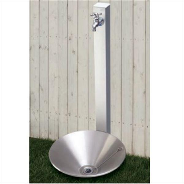 オンリーワン カラーアルミ立水栓 Lite(蛇口セット) 水栓柱 GM3-ALSCF +水鉢セット   メタリックシルバー
