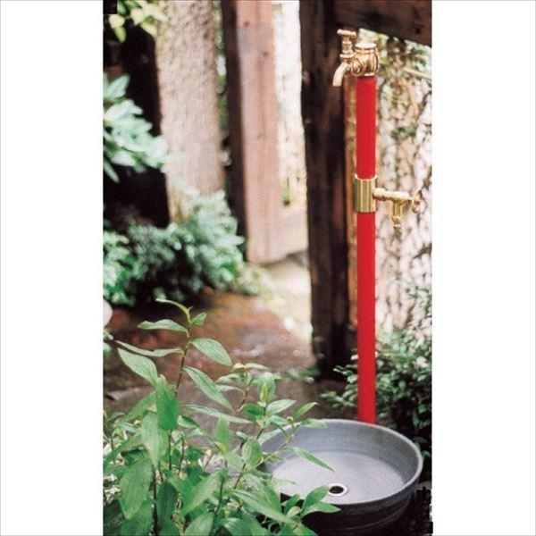 オンリーワン エッセンスガーデン水栓柱 水栓柱(双口) IB3-GF327023 +蛇口+パンセット   クランベリー