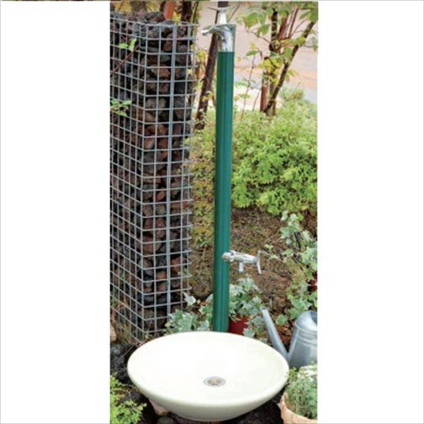 オンリーワン ドラーゴ 水栓柱 HV3-G12DG (補助蛇口付)+パンセット   ブリティッシュグリーン