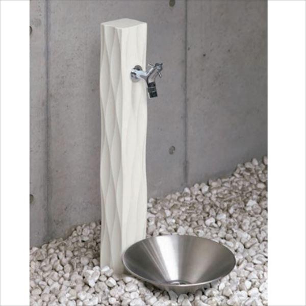オンリーワン ウェーブ 水栓柱 TC3-SCWWH +パン+蛇口セット   ホワイト