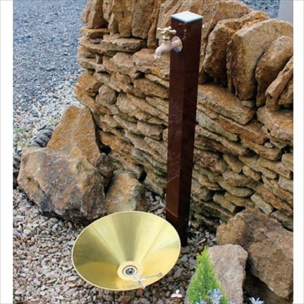 オンリーワン 水栓柱 水栓柱 GM3-ALLB +パン+蛇口セット   レザーブラウン