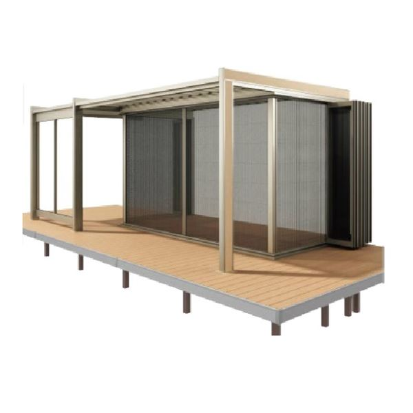 四国化成 ガーデンルーム F.リード憩 ルーフタイプ オプション 折りたたみ網戸 間口3231mm×10尺用 FI-NOAR3230SC