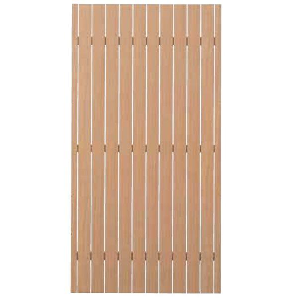 タカショー  エバーアートウッドフェンス 蜜縦板貼デザイン 蜜縦板貼 80幅 H15 ウッドカラー