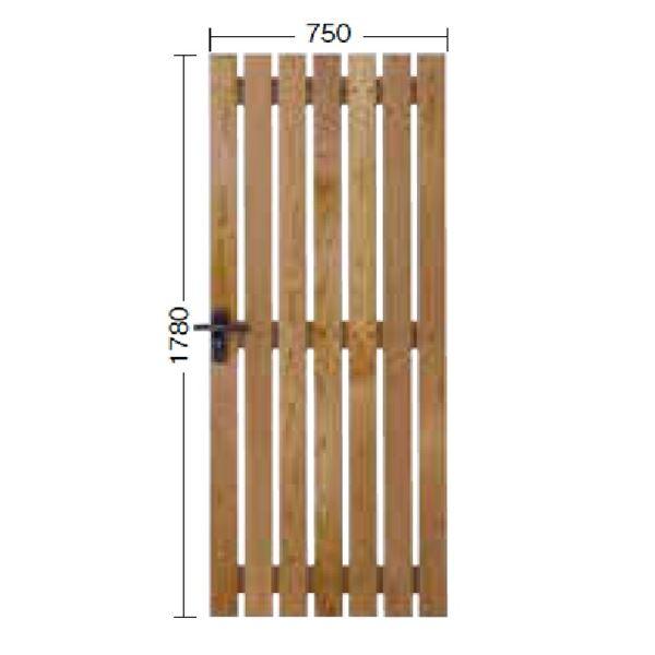 タカショー  タンモクフェンス タンモク板塀ゲート TMG-B18 13192100 無塗装