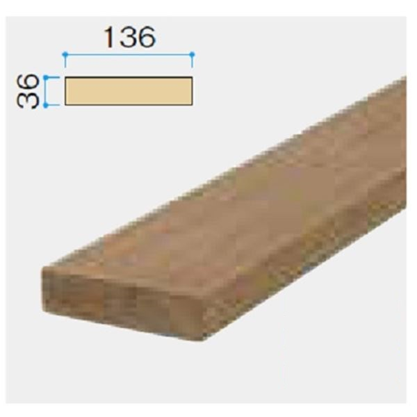 タカショー タンモクウッド部材シリーズ タンモクウッド 床板4m 塗装済 塗装済