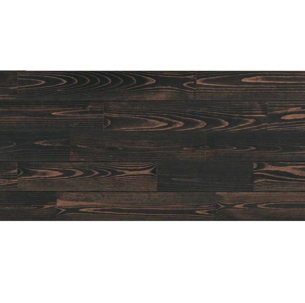 天然木部材 あづみの松 無地上小グレード UVナチュラルコート塗装 幅152mm 6枚入り 受注生産 (ブラックブラック) #WPFL0038