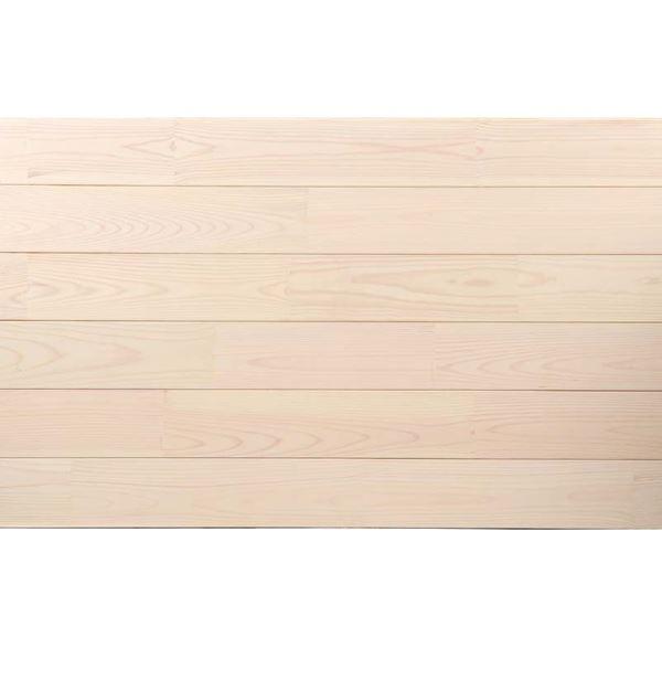 天然木部材 あづみの松 無地上小グレード UVハードコート塗装 幅152mm 6枚入り 受注生産 (ピュアホワイト) #WPFL0572
