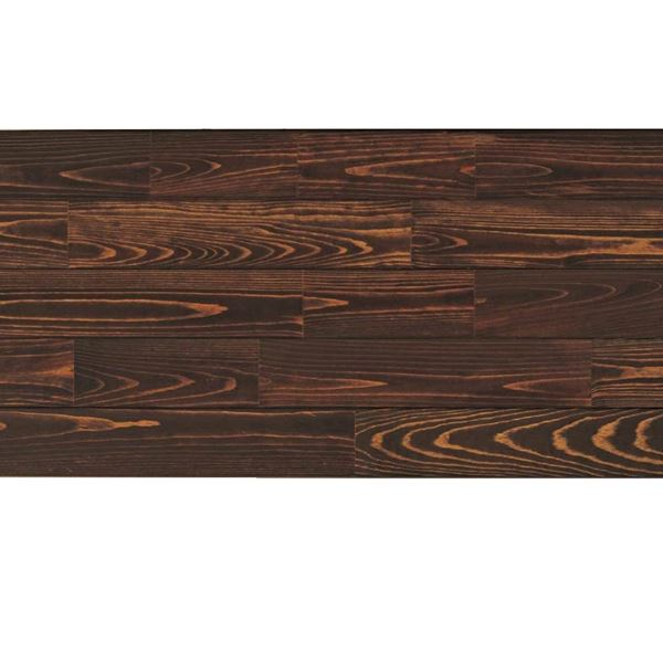天然木部材 あづみの松 無地上小グレード Sコート塗装 幅152mm 6枚入り 受注生産 (チョコレート) #WPFL0577