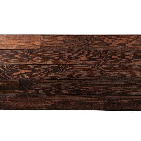 天然木部材 あづみの松 無地上小グレード Tコート塗装 幅114mm 8枚入り 受注生産 (チョコレート) #WPFL0519