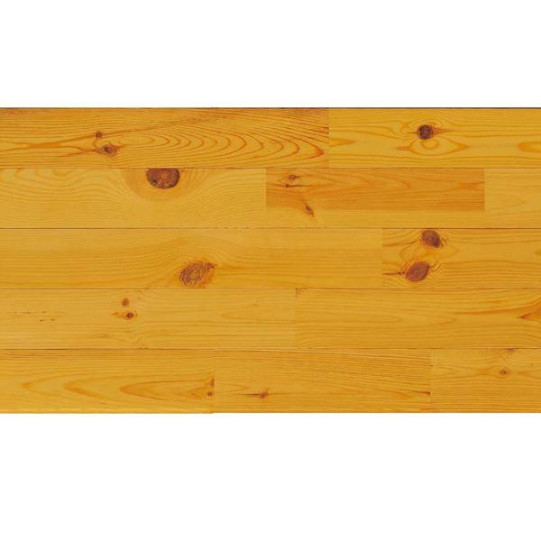 天然木部材 エコプレーゼ あづみの松 節有グレード LIVOSオイル塗装 幅152mm 6枚入り 受注生産 (ハニーブラウン色) #WPFL0121