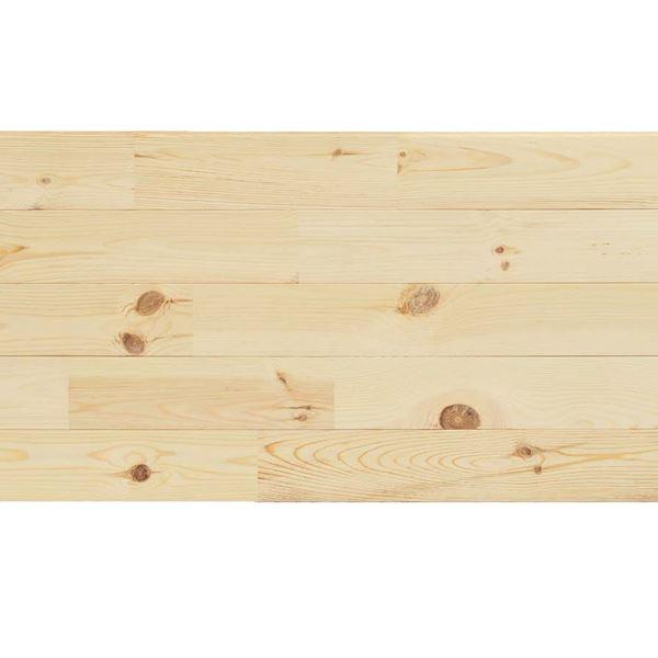 天然木部材 エコプレーゼ あづみの松 節有グレード LIVOSオイル塗装 幅114mm 8枚入り 受注生産 (ライトグレー色) #WPFL0112