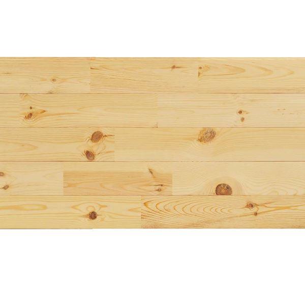 天然木部材 あづみの松 節有グレード UVナチュラルコート塗装 幅114mm 8枚入り 受注生産 (クリア) #WPFL0100