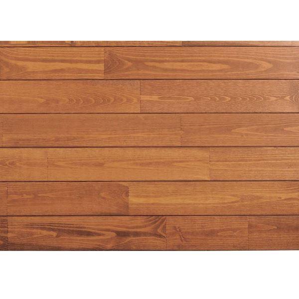 天然木部材 あづみの松 節有グレード UVナチュラルコート塗装 幅152mm 6枚入り 受注生産 (ナッツブラウン) #WPFL0607