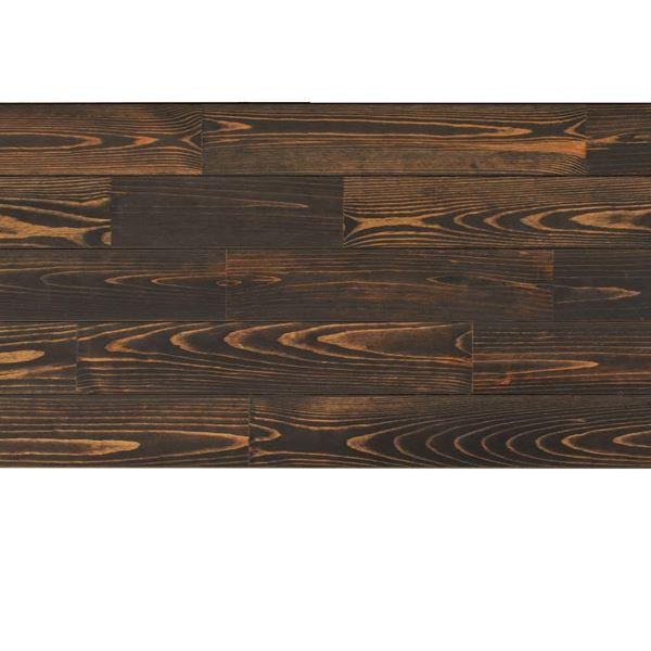 天然木部材 あづみの松 節有グレード UVハードコート塗装 幅114mm 8枚入り 受注生産 (ブラックブラック) #WPFL0218