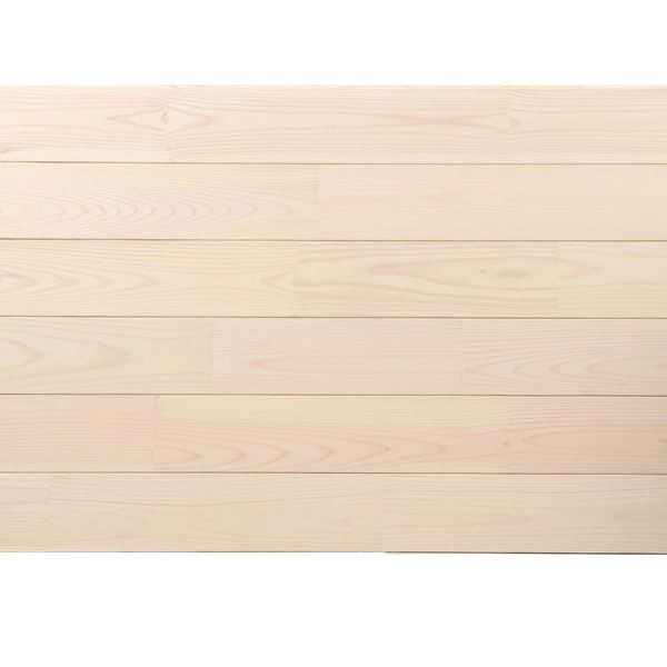 天然木部材 あづみの松 節有グレード Sコート塗装 幅114mm 8枚入り 受注生産 (ピュアホワイト) #WPFL0548