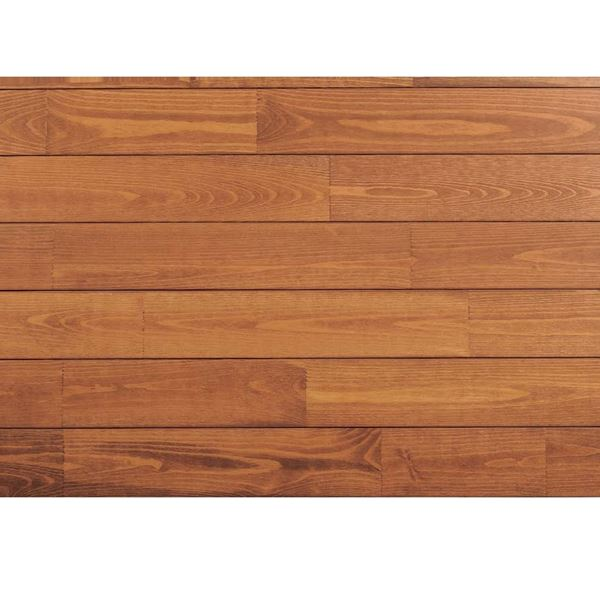 天然木部材 あづみの松 節有グレード Sコート塗装 幅114mm 8枚入り 受注生産 (ナッツブラウン) #WPFL0549