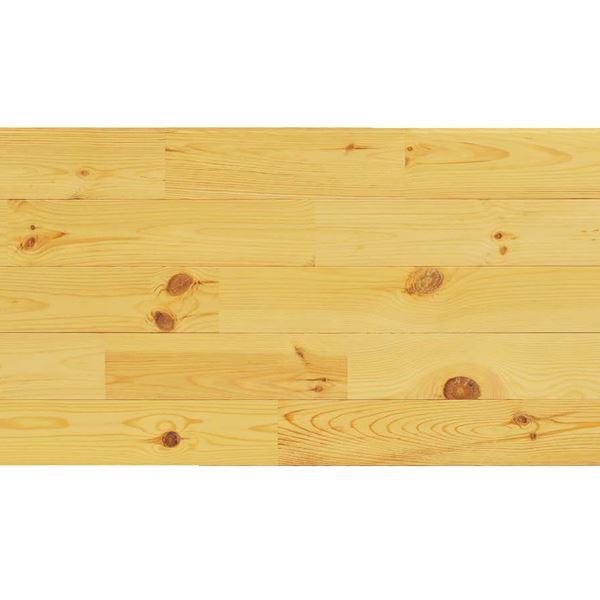 天然木部材 あづみの松 節有グレード Tコート塗装 幅152mm 6枚入り 受注生産 (クリア) #WPFL0614
