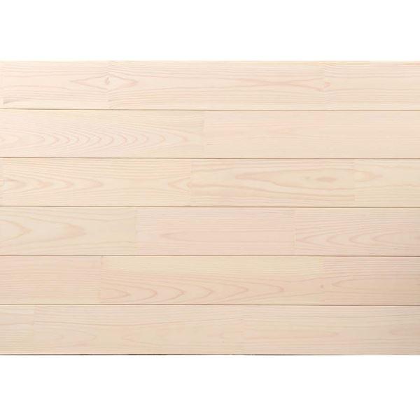 天然木部材 あづみの松 節有グレード Tコート塗装 幅114mm 8枚入り 受注生産 (ピュアホワイト) #WPFL0554