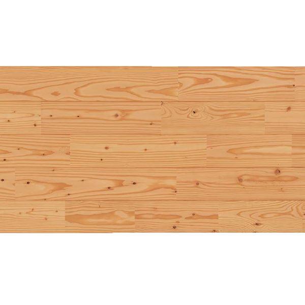 天然木部材 あづみのカラ松 節有グレード UVハードコート塗装 幅114mm 8枚入り 受注生産 (クリア) #WPFL0179