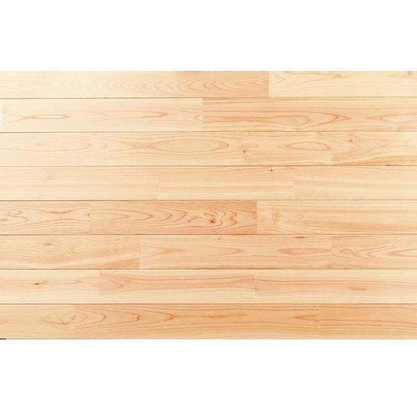 天然木部材 エコプレーゼ あづみの桧 無地上小グレード LIVOSオイル塗装 幅114mm 8枚入り 受注生産 (ナチュラル色) #WPFL0381