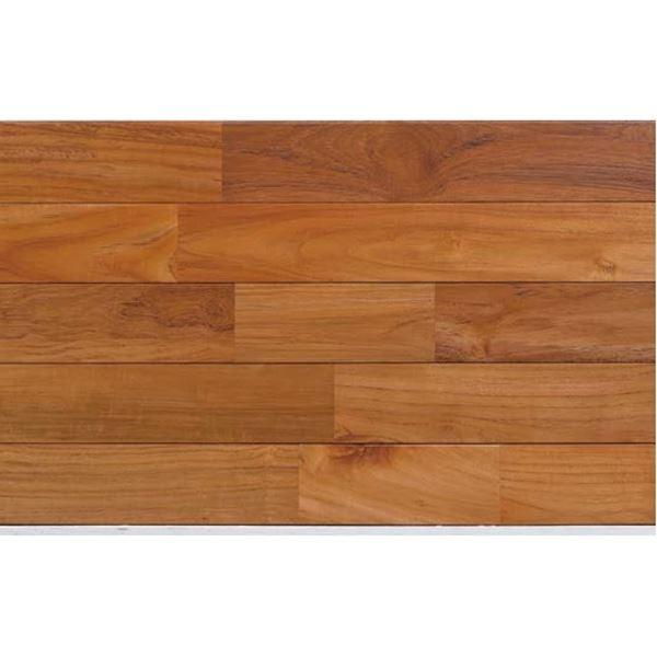 天然木部材 木床(直貼り特殊防音材付き) チーク ウレタン塗装 幅90mm 20枚入り (クリア) #PHFL0348