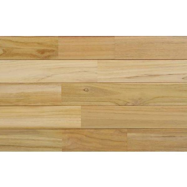 天然木部材 木床(直貼り特殊防音材付き) チーク ウレタン塗装 幅90mm 20枚入り (ホワイト) #PHFL0350