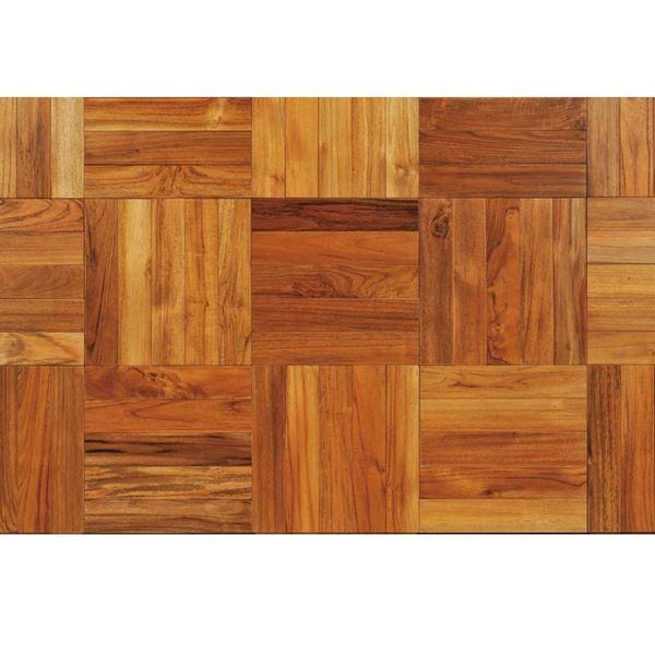 天然木部材 チーク パーケット(直貼りカルプ付き) スタンダードグレード KLUMPPオイル塗装 18枚入り  #PHFL0697