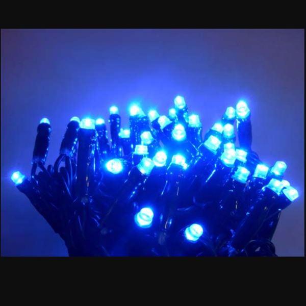 コロナ産業 LED100球グリッターライト(2回線式1回路)  GLT100B 青 『イルミネーションライト』 青